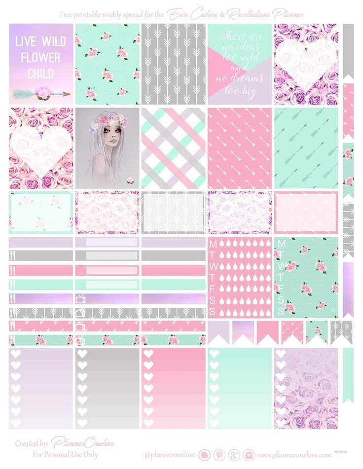 Free Printable Wld Child Planner Stickers from Planner Onelove