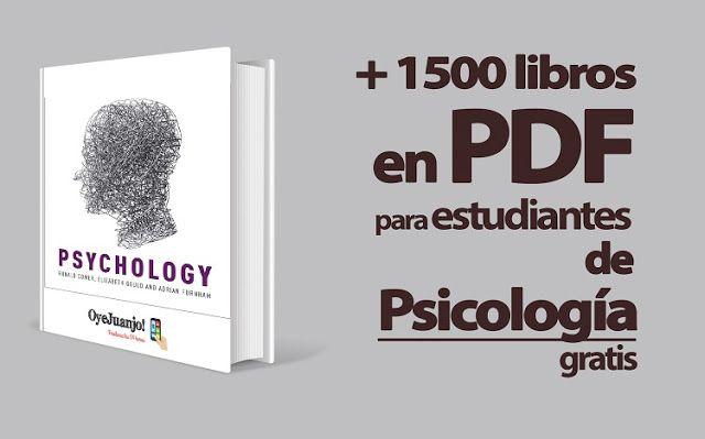 Más de 1500 libros en PDF para estudiantes de Psicología (Gratis) - Oye Juanjo!
