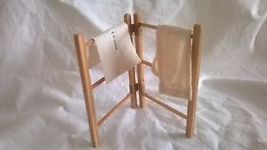 Dolls' house vintage style clothes airer/ maiden, glass cloth, towel | eBay
