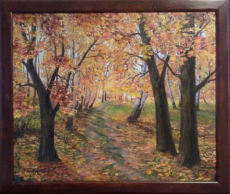 """Купить Картина маслом""""Дорога к реке"""".Пейзаж - картина, картина маслом, Картины и панно, пейзаж"""