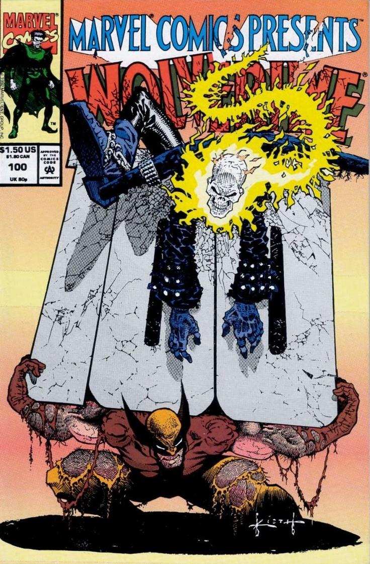 Marvel Comics Presents #100 version #2: Wolverine vs. Ghost RIder by Sam Kieth