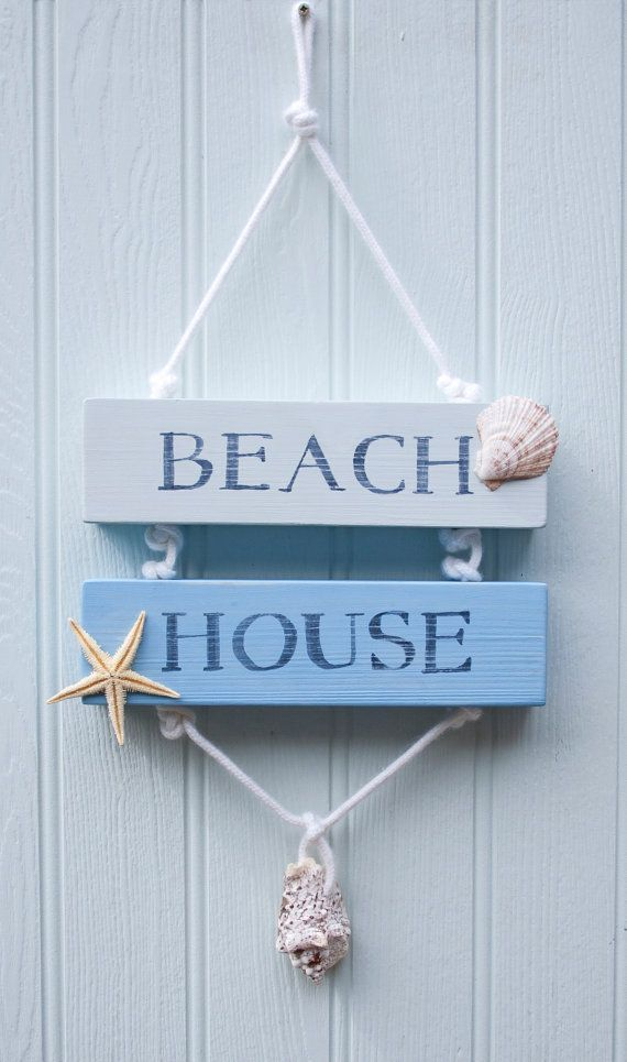 Beach House Wooden Sign Beach Decor Surfer por driftwooddreaming                                                                                                                                                      More
