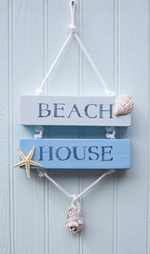 Beach House Wooden Sign Beach Decor Surfer por driftwooddreaming