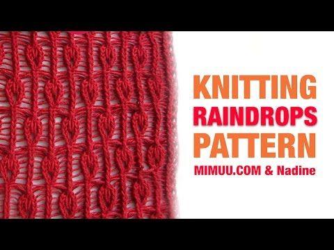 Knitting pattern RAINDROPS - YouTube