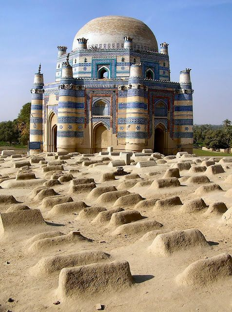 The Tomb of Bibi Jawindi is one of the five monuments in Uch Sharif, Pakistan which are on the tentative list of the UNESCO World Heritage Sites. It was built in 1493 by Iranian Prince Dilshad for Bibi Jawindi who was the great granddaughter of Jahaniyan Jahangasht, a famous Sufi saint. Uch is an important historical city, having been founded by Alexander the Great. #Architects #Construction #Architecture http://www.arcon.pk