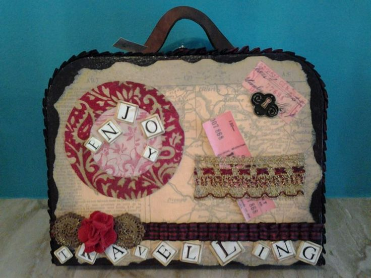 totally hand made little suitcase made by Erifili
