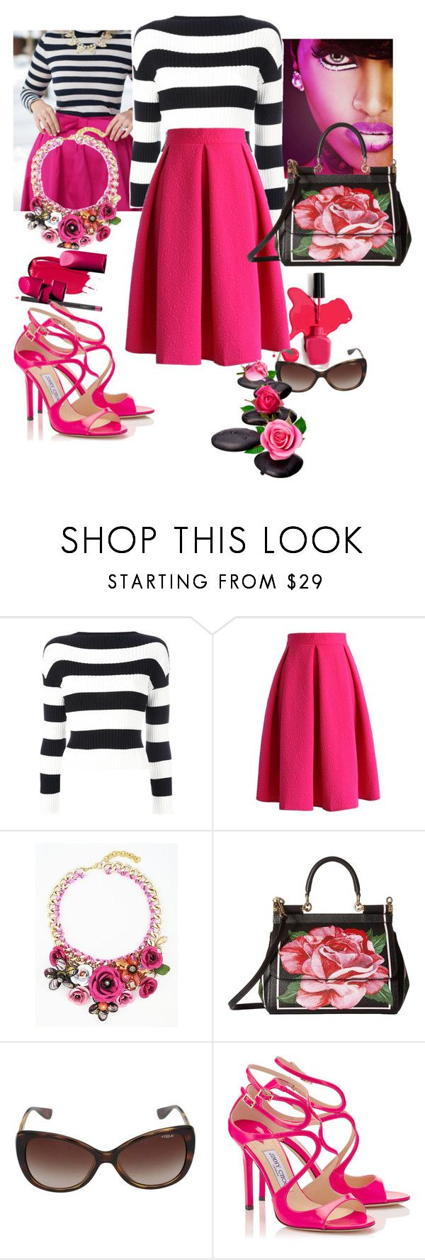 """Untitled #388"" by csfshawn on Polyvore featuring Boutique Moschino, Chicwish, Dolce&Gabbana and Vogue Eyewear"