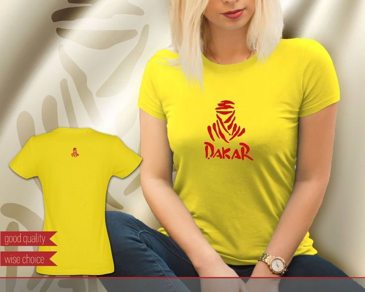 Dakar Rally Motocross Team Golden Yellow with Red Women's T-shirt Tee (DK606) #SOLS #PersonalizedTee
