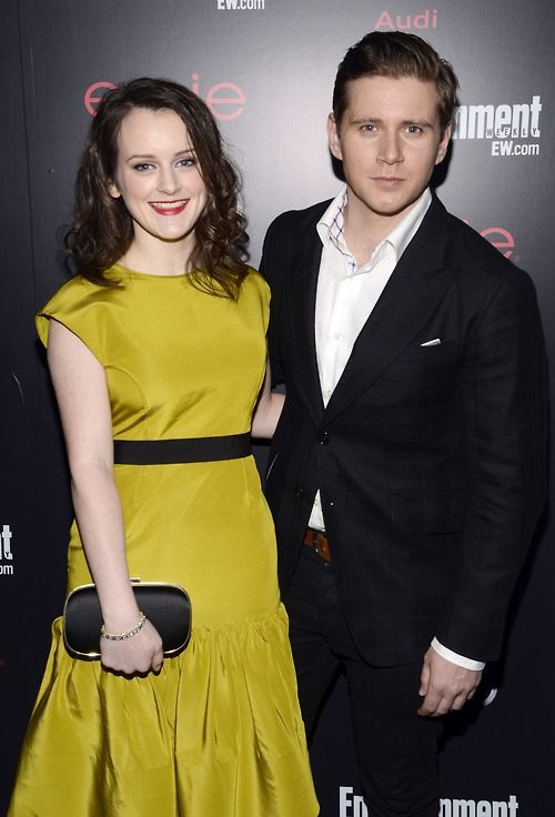 Sophie McShera and Allen Leech attendthe Entertainment Weekly Pre-SAG Party hosted by Essie and Audi held at Chateau Marmont on January 26, 2013 in Los Angeles, California.