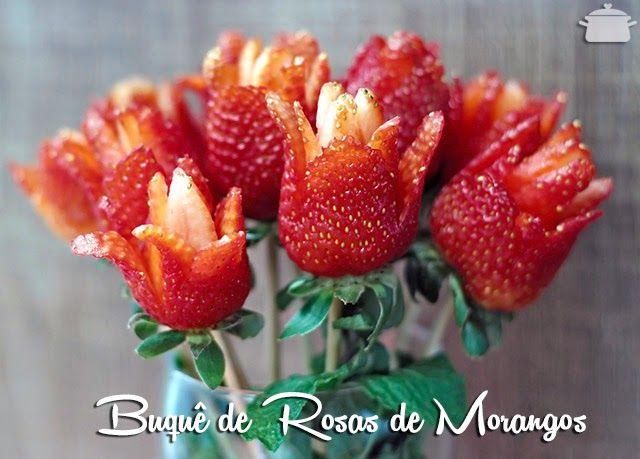 PANELATERAPIA - Blog de Culinária, Gastronomia e Receitas: Buquê de Flores de Morangos