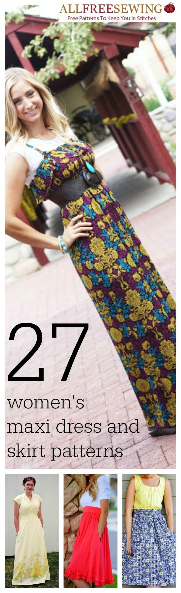 29 Long Dresses for Summer + Women's Maxi Dresses and Skirts | AllFreeSewing.com