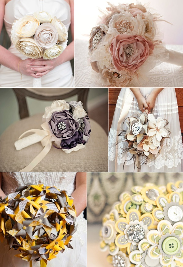 Etsy Bouquets - Wedding bouquets altenatives via ...oh so lovely blog