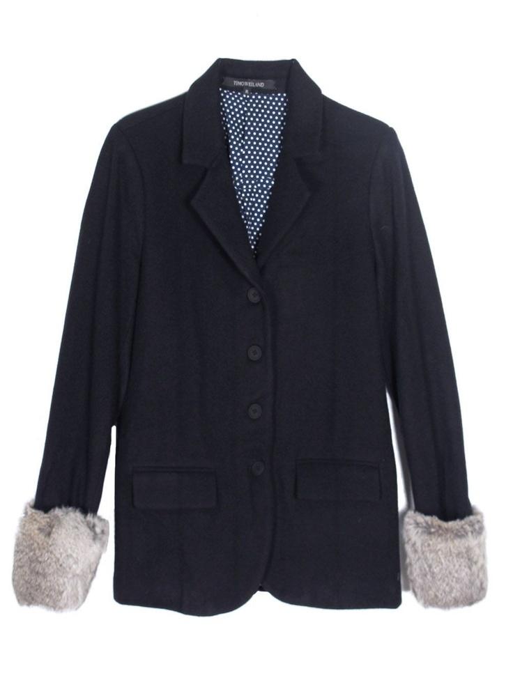 Timo Weiland Blazer with Silver Fur Cuffs, $125 // Strangely drawn to these.