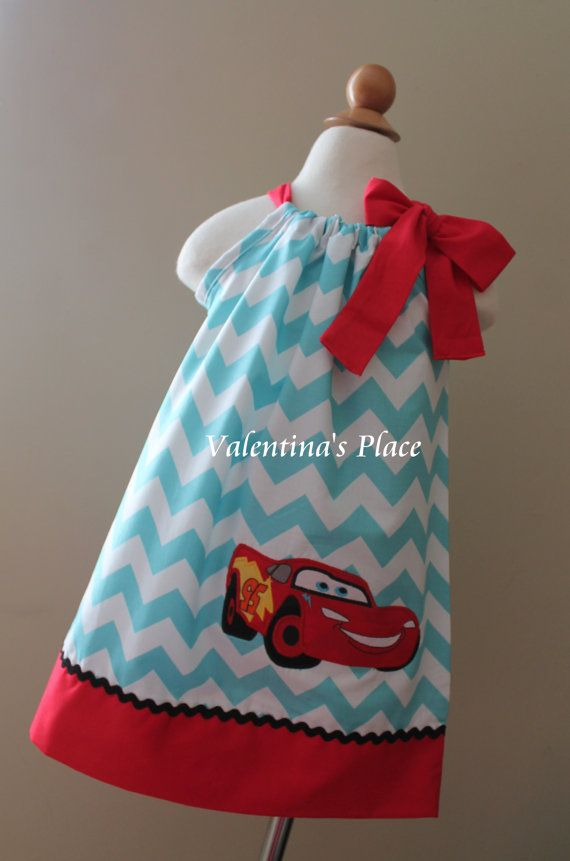 Super Cute Lightning McQueen pillowcase dress.