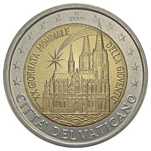 2 Euro Vaticano 2005 Xx Giornata Mondiale Della Gioventù Bronze
