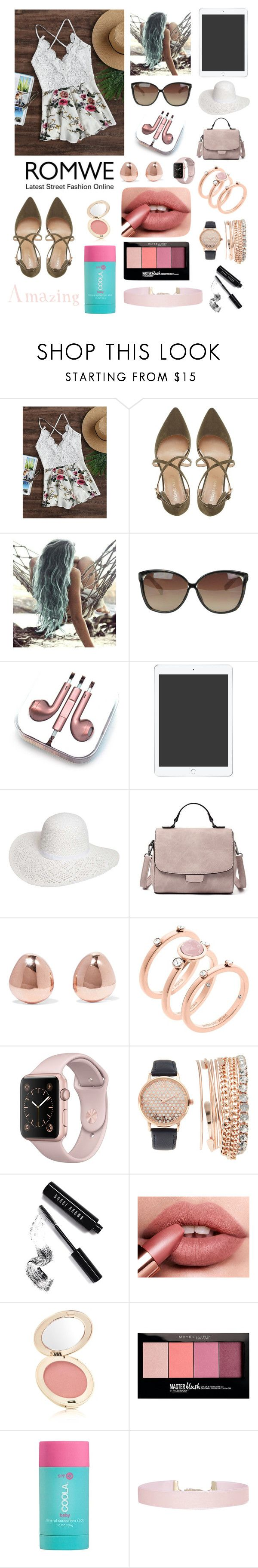 """""""Listening To Music On The Beach"""" by kmrichardson20 ❤ liked on Polyvore featuring Roberto Vianni, Linda Farrow, PhunkeeTree, Dorothy Perkins, Monica Vinader, Michael Kors, Jessica Carlyle, Bobbi Brown Cosmetics, Jane Iredale and Maybelline"""