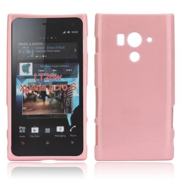 Glitter Shell (Vaaleanpunainen) Sony Xperia Acro S Silikonisuojus