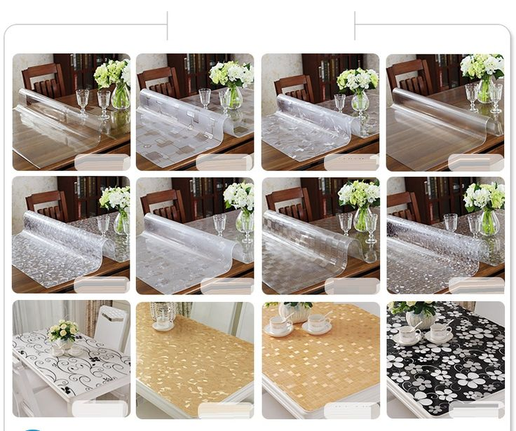 Les 25 meilleures id es de la cat gorie nappe transparente - Nappe plastique transparente pour table ...