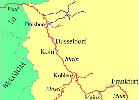 Germany: Rhein, Netherlands to Mainz