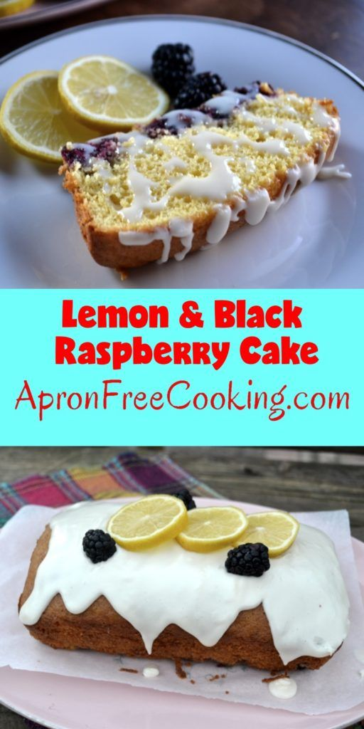 Lemon and Black Raspberry Cake Pin from www.ApronFreeCooking.com
