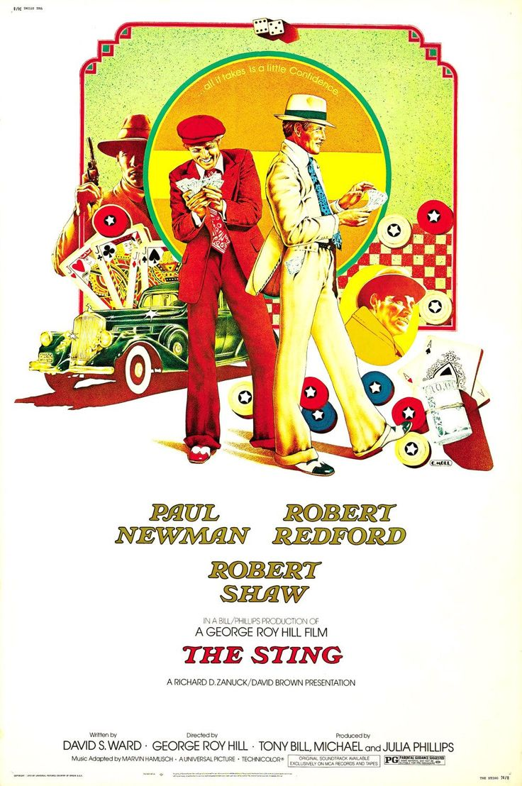 The Sting.  1973.  Interesting and rarely seen poster design.