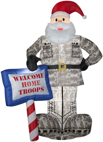 172 best fun christmas inflatables images on pinterest for Welcome home soldier decorations