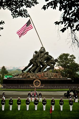 Iwo Jiwa War Memorial .. across the river from Washington DC ~ Arlington, Virginia