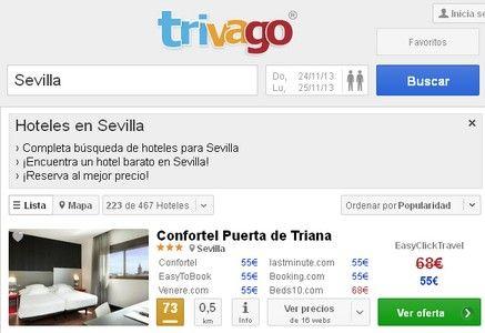Trivago Hoteles Sevilla, Baratos, Ofertas.Trivago.es, salidas Octubre, precios Estancias, Andalucía, España. http://www.potenciatueconomia.com/varios/hazlo-tu-mismo/trivago-hoteles-sevilla-baratos-ofertas-trivago-es-salidas-octubre-precios-estancias-andalucia-espana/