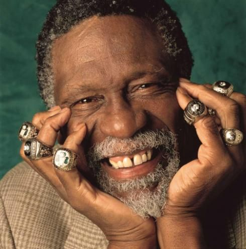 Bill Russell - a ring for each finger plus a spare!