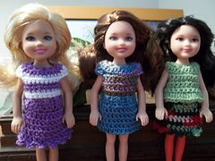 Ravelry: Outfits for Chelsea & Kelly free pattern by Vicki Johnson