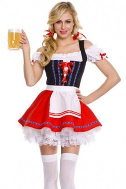 https://flic.kr/p/xPhHSP | Sumptuous Beer Girl Oktoberfest Costume | Sexy international costumes wholesale from dear-lover.com. This luscious Sumptuous Beer Girl Oktoberfest Costume is a German inspired dress that comes with a peasant style top with a corset type top that ties in the front. The red skirt with fun detailing on the bottom is sure to please. Apron and thong are also attached. It is ideal for role play, theme parties, or Halloween fun. Great as a novelty outfit for bartenders…