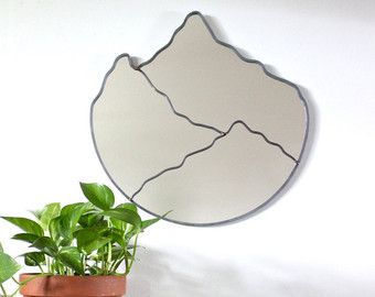 Oval Scalloped Mirror Handmade Wall Mirror Ornate by fluxglass