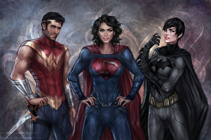 Wonder Man, Superwoman, and Batwoman from Earth-11. WOOWWWW - Visit to grab an amazing super hero shirt now on sale!