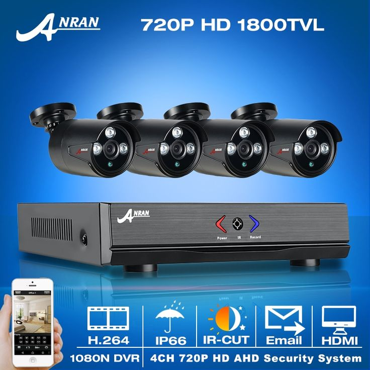 (124.64$)  Know more  - Newest! 4CH 1080N HDMI DVR Kit&720P HD 1800TVL IR Outdoor Weatherproof AHD Security CCTV Cameras&Home Video Surveillance System