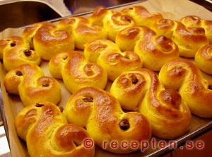 Lussekatter (Saffron bread) - another Swedish Christmas tradition