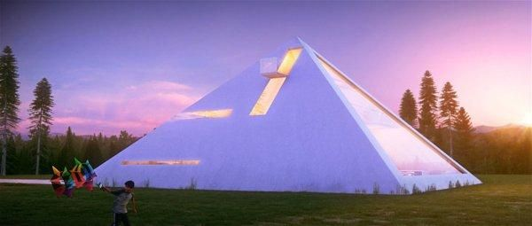 Creative design - house pyramid and light games