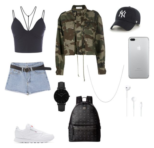 """""""polyvore"""" by jesy-smith on Polyvore featuring mode, Faith Connexion, Reebok, MCM, '47 Brand, CLUSE et Fremada"""