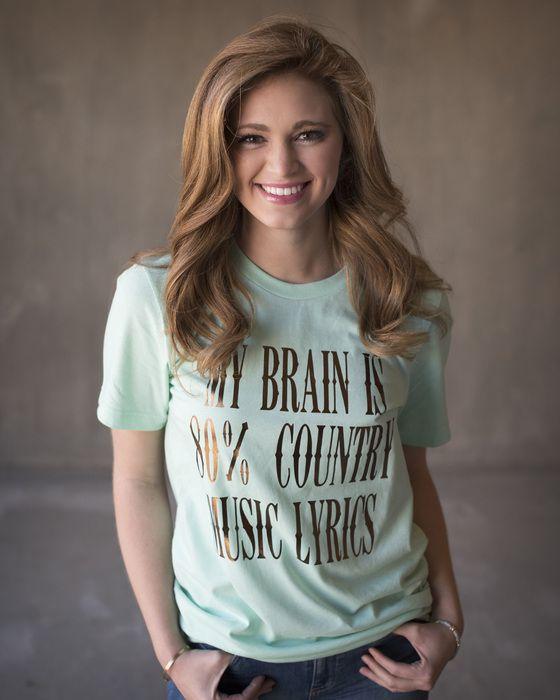 My Brain is 80% Country Music Lyrics T-Shirt
