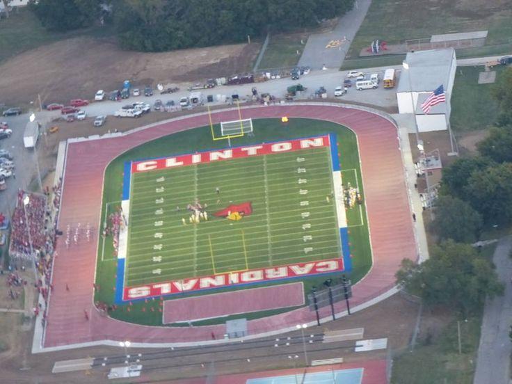 football field at new high school clinton mo 2013