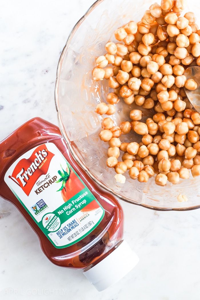 Super easy roasted chickpeas made with French's Tomato Ketchup and other con…   – Yummy Treats