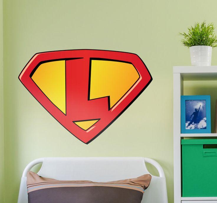 Sticker super personaliseerbaar  Deze muursticker heeft het klassieke superman logo waarvan je de letter kan aanpassen aan je de voorletter van uw pasgeboren zoon of dochter. Deze sticker heeft tenstickers speciaal gemaakt ter decoratie van de babykamer. De sticker is uitstekend geschikt voor de ouders die fan zijn van superhelden en hopen dat hun kindje een deze dagen ook een superheld wordt. Uw kunt de voorletter invoeren boven de balk bestel.Deze sticker is gemaakt van 100% vinyl en…