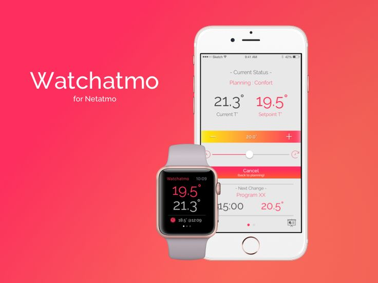 Watchatmo : iPhone & Apple Watch app for Netatmo Thermostat