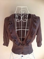 Jacqui E frill detail cardigan size S