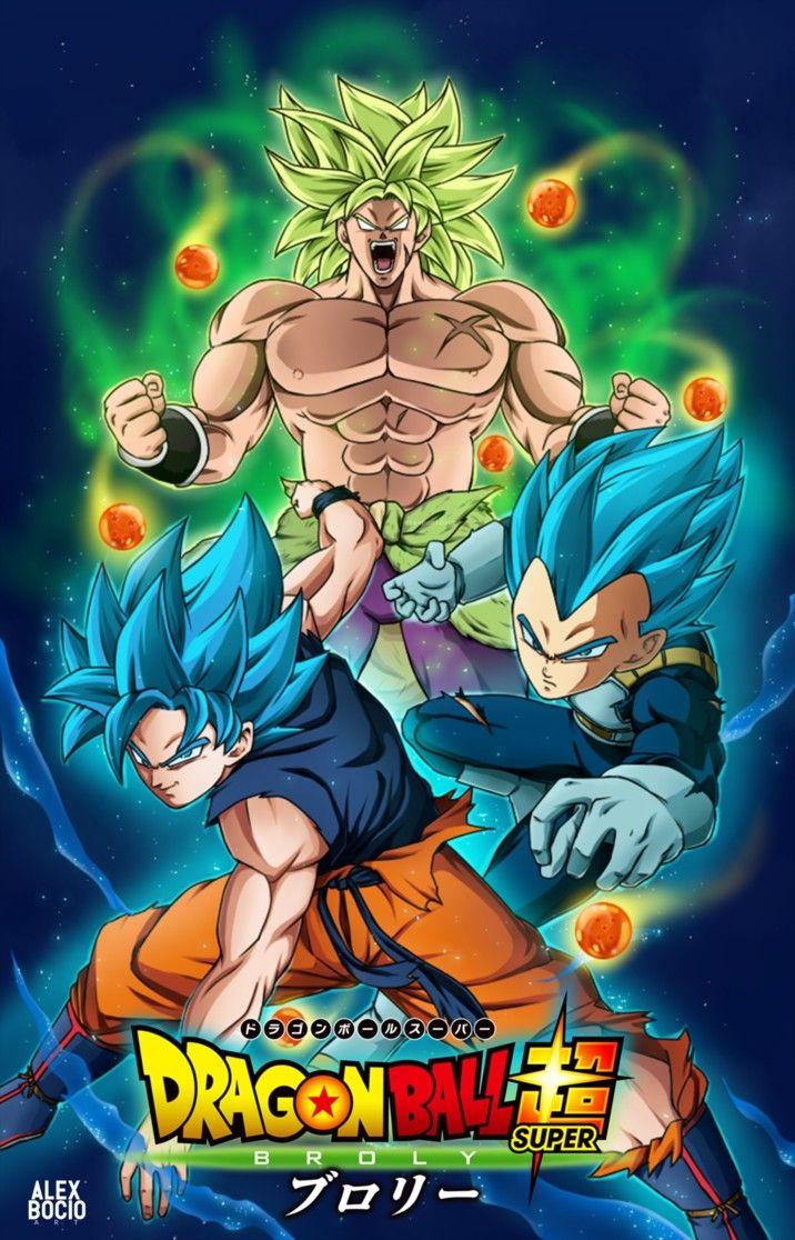 Broly Goku Y Vegueta Dragon Ball Super Broly Movie Dragon Ball Super Goku