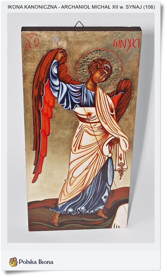 Malowana Ikona Archanioł Michał z Synaj Kopia XII w.