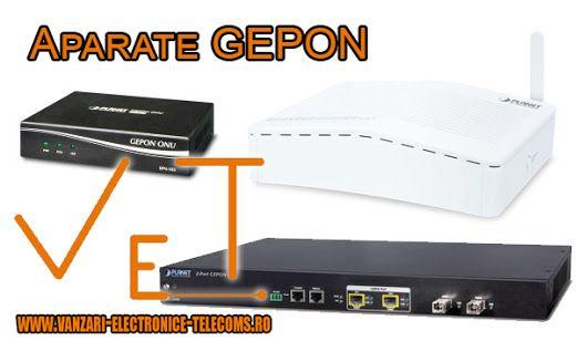Cu ajutorul tehnologiei GEPON veti putea beneficia de o solutie de retea cu banda larga. Prin urmare, veti putea conecta aparatul OLT la sediul central, in timp ce echipamentele ONU si ONT la persoana abonata. Aparatele ONU si ONT se pot conecta la abonat printr-o interfata de mare viteza, asigurand astfel servicii Triple Play de cea mai buna calitate. Pentru detalii accesati http://www.vanzari-electronice-telecoms.ro/produse/135/gepon/