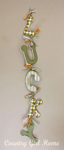 more modge podge letters. I need to modge podge something! St Patricks Day decor diy