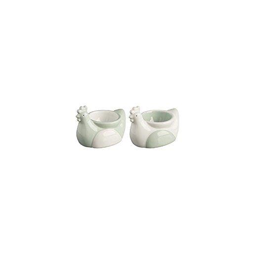 Price and Kensington Farmhouse Kitchen Egg Cups, Ceramic, White,