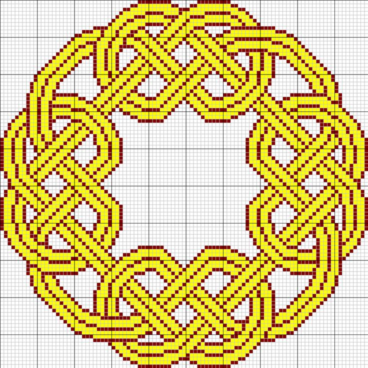 Celtic knot pattern