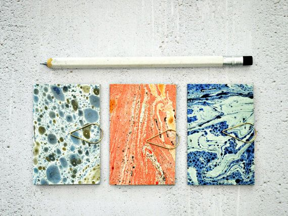 Mini Blank Books {3} Marbled Paper Books | Pocket Notebooks | Mini Books | Mini Journals | Valentine Gift | Gift for Her | Gift under 10